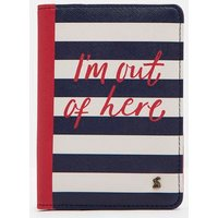 NAVY TRAVEL TEXT Jetsetter Passport Holder  Size One Size