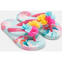 Green Floral Printed Flip Flops  Size Childrens 1