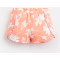 Orange Floral Suzette Jersey Printed Shorts 1-6 Yr  Size 5Yr