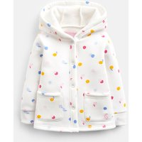 Cream Apple Spot Reed Sweatshirt Jacket  Size 18M-24M