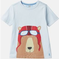 Light Blue Bear Ben Screenprint T-Shirt 1-6 Years  Size 6Yr