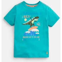 GREEN SURFING TREX Ben SCREENPRINT T-SHIRT 1-6yr  Size 2yr