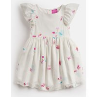 White Fairy Floral Emeline Woven Printed Dress 1-6 Yr  Size 3Yr