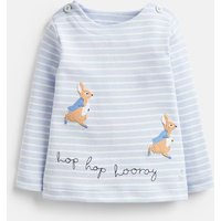 Blue Stripe Peter Rabbit Hoppy Jersey Applique Top  Size 9M-12M