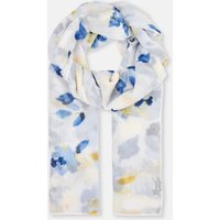 CREAM MULTI ROSE 204149 Longline Woven Scarf  Size One Size
