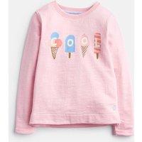 ROSE PINK 204615 Printed Sweatshirt  Size 3yr