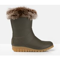 Chilton Winter Wellies With Faux Fur Cuff
