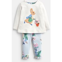 Cream Gardening Peter Poppy Applique Top And Trousers Set  Size 12M-18M