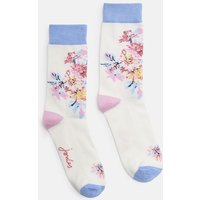 CREME WHITSTABLE FLORAL 204150 Bamboo Single Socks  Size 4-8