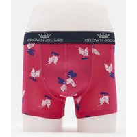 PINK HEARTY COCKEREL Crown joules single pack Underwear  Size L