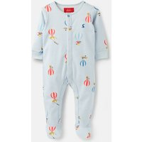 Blue Balloons Ziggy Printed Babygrow With Feet  Size 0M-3M