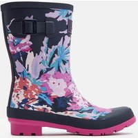 Navy All Over Floral Molly Mid Height Printed Wellies  Size Adult 5