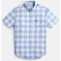 Blue Check 207505 Short Sleeve Classic Fit Check Shirt  Size L