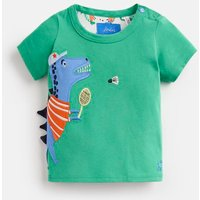 GREEN SPORT DINO Archie Jersey Applique T-Shirt  Size 3m-6m