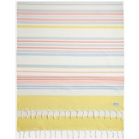 Cream Orange Stripe Beach Blanket  Size One Size