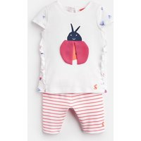 White Ladybird Paula Jersey Top And Legging Set  Size 18M-24M