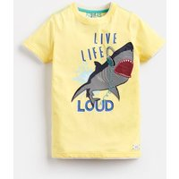 YELLOW SHARK Wildside Artwork Tee 3-12yr  Size 11yr-12yr