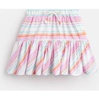 Mauve White Multi Stripe Liza Jersey Printed Skirt 1-6 Yr  Size 3Yr