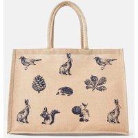 NAVY ANIMALS Woodland trust Jute Shopping Bag  Size One Size