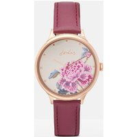Pink Chinoise Bloom Ladies Leather Strap Watch  Size One Size