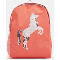 PINK SEQUIN HORSE Patchback Sequin Horse Backpack  Size One Size