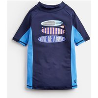 FRENCH NAVY Chase Screenprint Rash Vest 3-12Yr  Size 9yr-10yr
