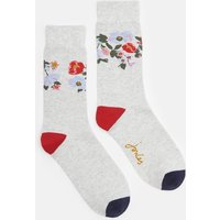 GREY FLORAL Brilliant bamboo Socks  Size One Size