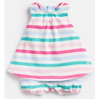 Multi Stripe 204664 Mock Layer Romper Suit  Size 9M-12M