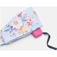 WHITE STRIPE WHITSTABLE FLORAL 206914 Joules By Fulton Tiny Brolly  Size One Size
