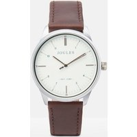 Brown Aldous Mens Leather Strap Watch  Size One Size