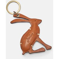 Tan Hangby Leather Hare Keyring  Size One Size