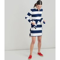Cream Navy Stripe Winona Rugby Dress  Size 14