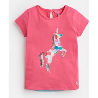 Pink Unicorn Spot Maggie Jersey Applique T-Shirt 1-6 Yr  Size 4Yr