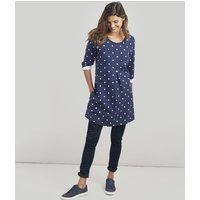 NAVY SPOT Edith A-line Tunic  Size 8