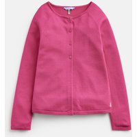 Bright Pink 205320 Girls Swing Shape Cardigan  Size 7Yr-8Yr