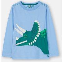 Blue Dino Zipadee Applique T-Shirt 1-6 Years  Size 1Yr