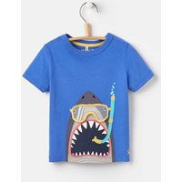 Blue Scuba Shark Chomper Applique T-Shirt 1-6Yr  Size 2Yr