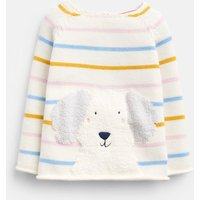 Multi Stripe Dog Winnie Knitted Jumper  Size 0M-3M