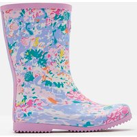 WHITE MERMAID DITSY Roll up Wellies  Size Childrens 1