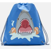 Blue Shark Fin Active Drawstring Bag  Size One Size