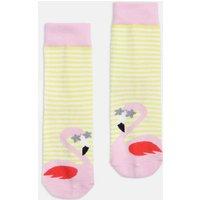 Yellow Flamingo Neat Feet Character Socks  Size Size 13-3