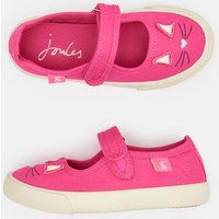Bright Pink Funday Canvas Strap Pumps  Size Junior 3