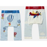 Multi Air Travel Lively Pack Of Two Knited Leggings  Size 0M-6M