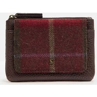 RED CHECK Piper tweed Coin purse  Size One Size