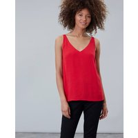 Red Kyra V Neck Camisole Top  Size 8