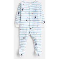 Blue Stripe Fishing Cosmo Velour Babygrow  Size 0M-3M