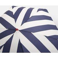 Navy Coastal Stripe Fulton Tiny Navy Stripe Ladies Umbrella  Size One Size