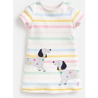 Multi Stripe Dog Kaye Applique Dress  Size 3M-6M