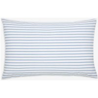 Blue Stripe Garden Dogs Stripe Standard Pillowcase  Size One Size