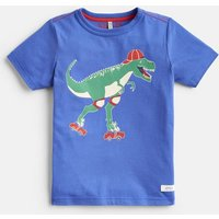 DAZZLING BLUE DINOSAUR 204639 Screenprint Tee  Size 7yr-8yr